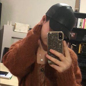 Armani Exchange Adjustable leather cap